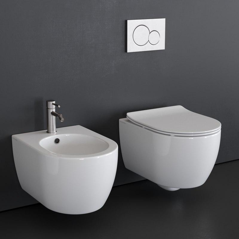 wall-hung toilet moon 5520 3D model