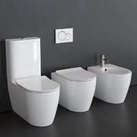 Scarabeo Ceramiche bidet and toilet