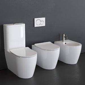 3D toilet moon 5526 5522