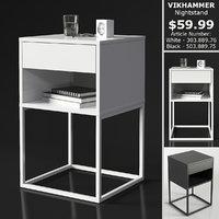 3D ikea vikhammer nightstand model
