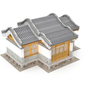 3D ancient chinese architecture distribution