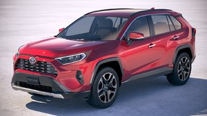 3D toyota rav4 2019 model