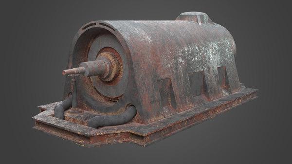 motor element factory 3D model