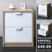 3D model ikea askvoll chest