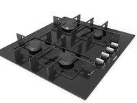 3D kitchen cooktop