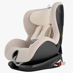 3D children car chair model