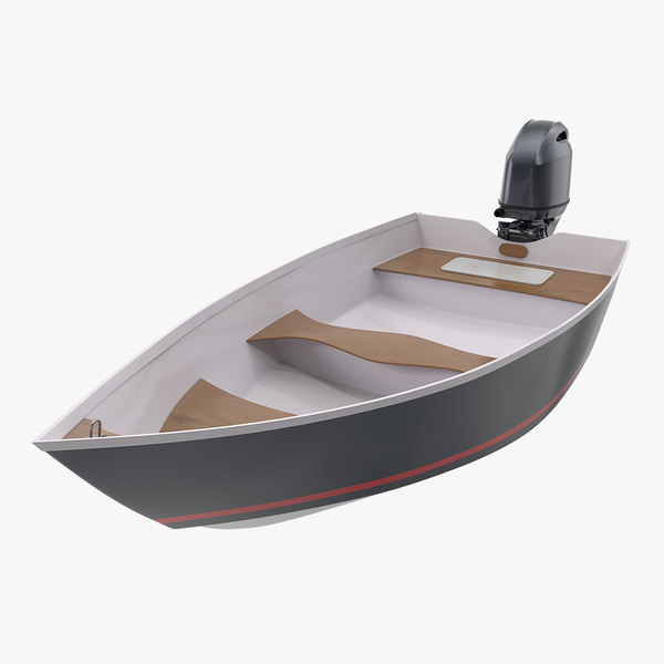 3D model motorboat outboard engine