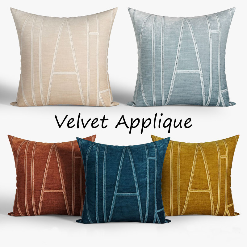 3D decorative pillows westelm set
