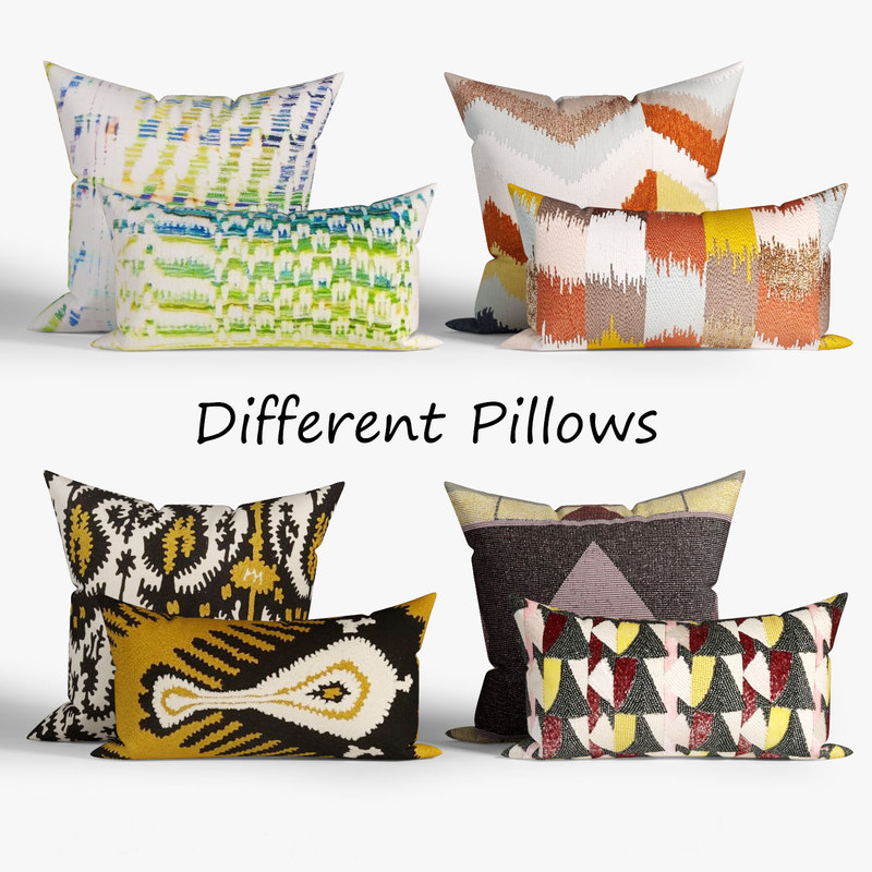 decorative pillows westelm set 3D model
