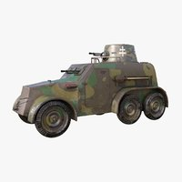 3D oa vz 30 armoured car model