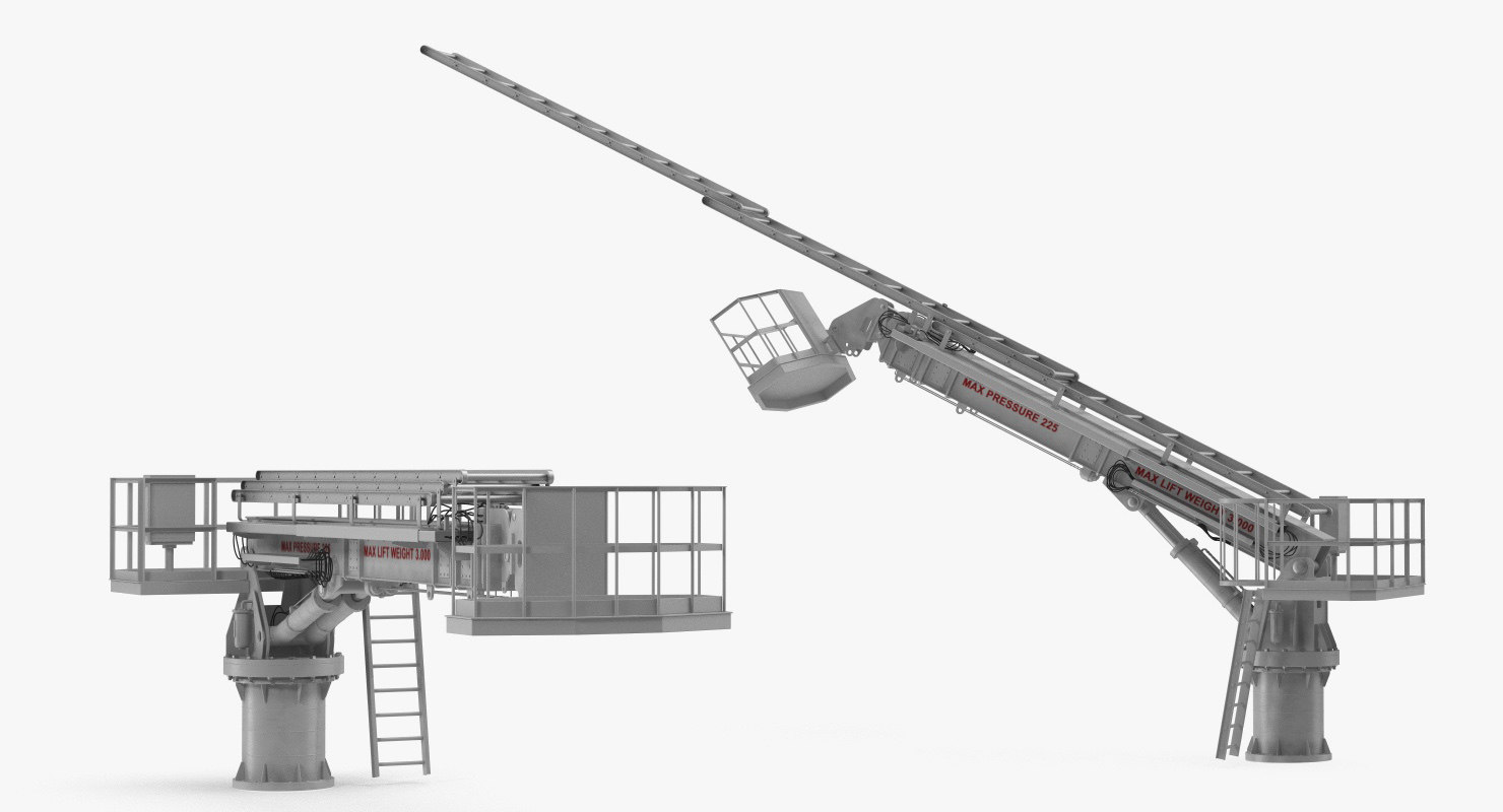Hydraulic Lift Concept : Hydraulic ladder lift rigged d model turbosquid