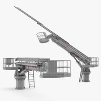 hydraulic ladder lift rigged 3D model