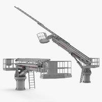 hydraulic ladder lift rigged 3D model