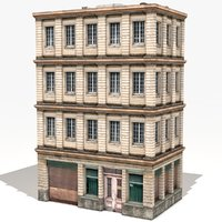 3D model apartment building house
