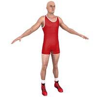 wrestler games 3D model