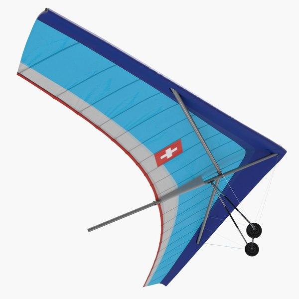 3D flexible wing hang glider