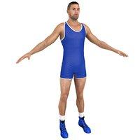 3D model wrestler 2