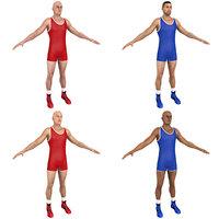 pack wrestler 3D model