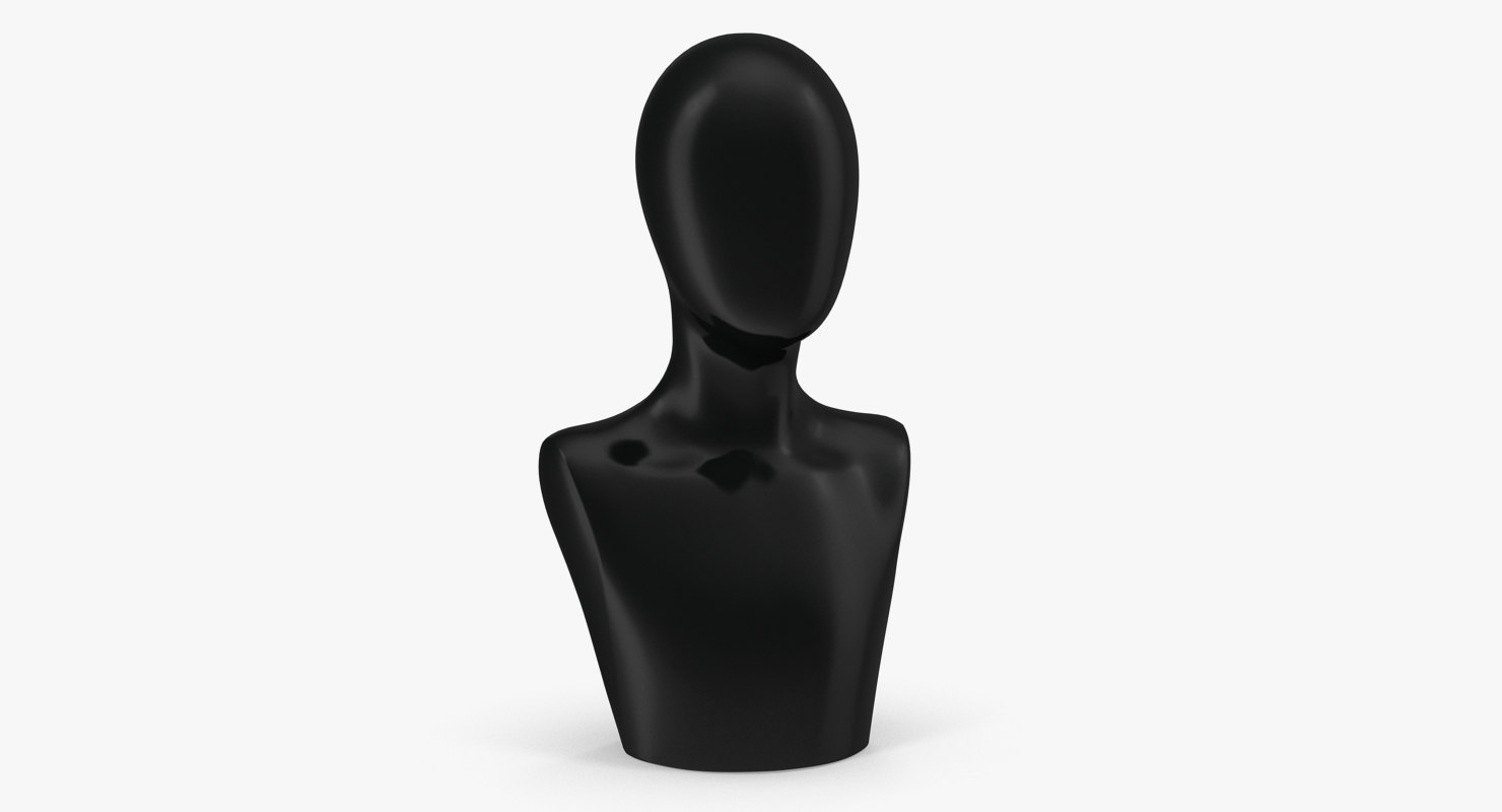 3D female plastic abstract mannequin