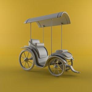 3D model cartoon carriage