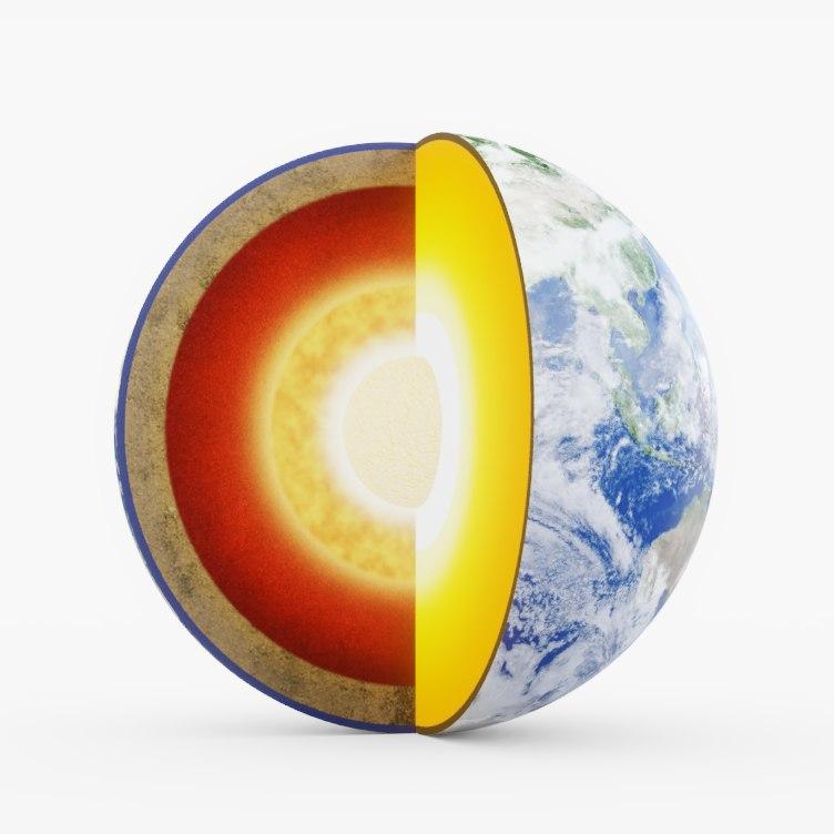 3D earth core model