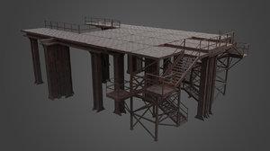3D platform factory elements model