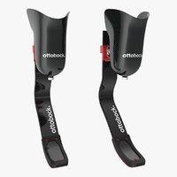 3D knee leg sport prosthetics model