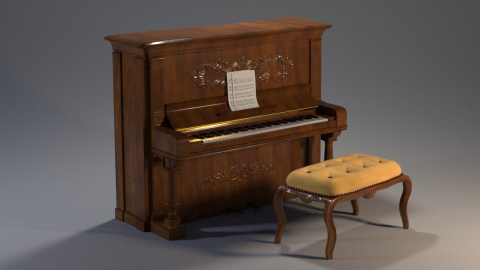 steinway piano 3D model