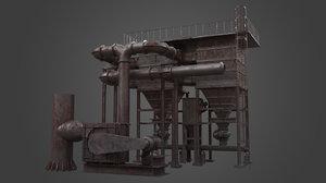 silo factory element 3D model