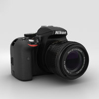 3D nikon d3300 3300 model