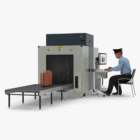 Airport Security Officer Xray Baggage Scanning