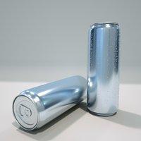 aluminum drinks 3D model