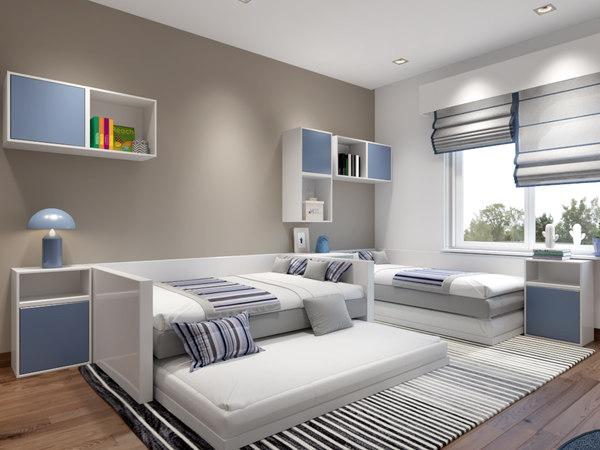 kids bedroom 3D model