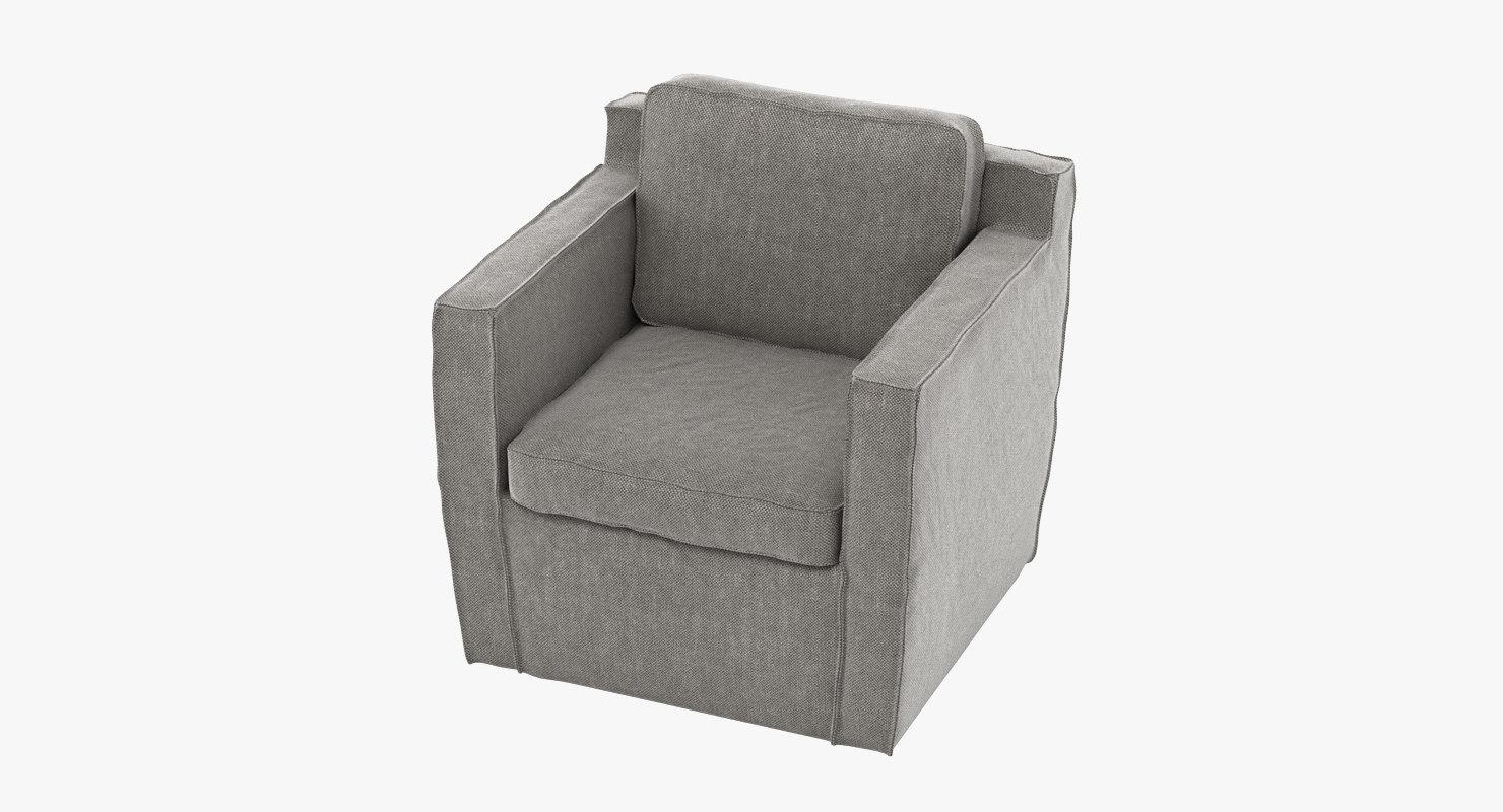 ville venete poltrona armchair 3D model