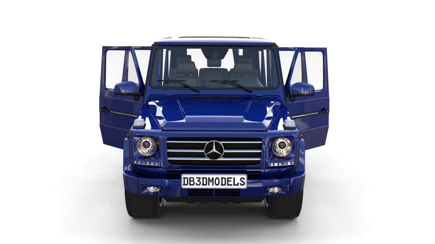 3D mercedes g class interior