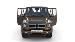 3D mercedes g class interior model