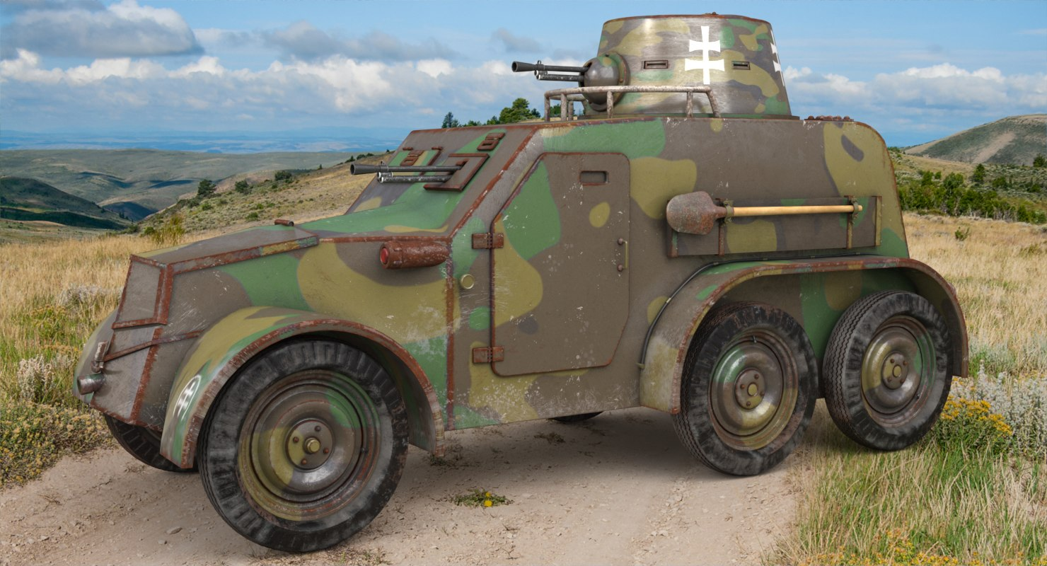 oa vz 30 armoured car 3D model