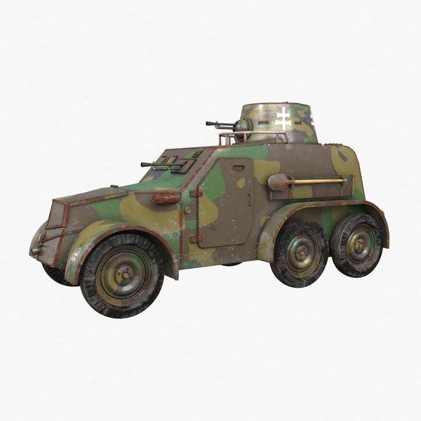 oa vz 30 armoured car 3D model