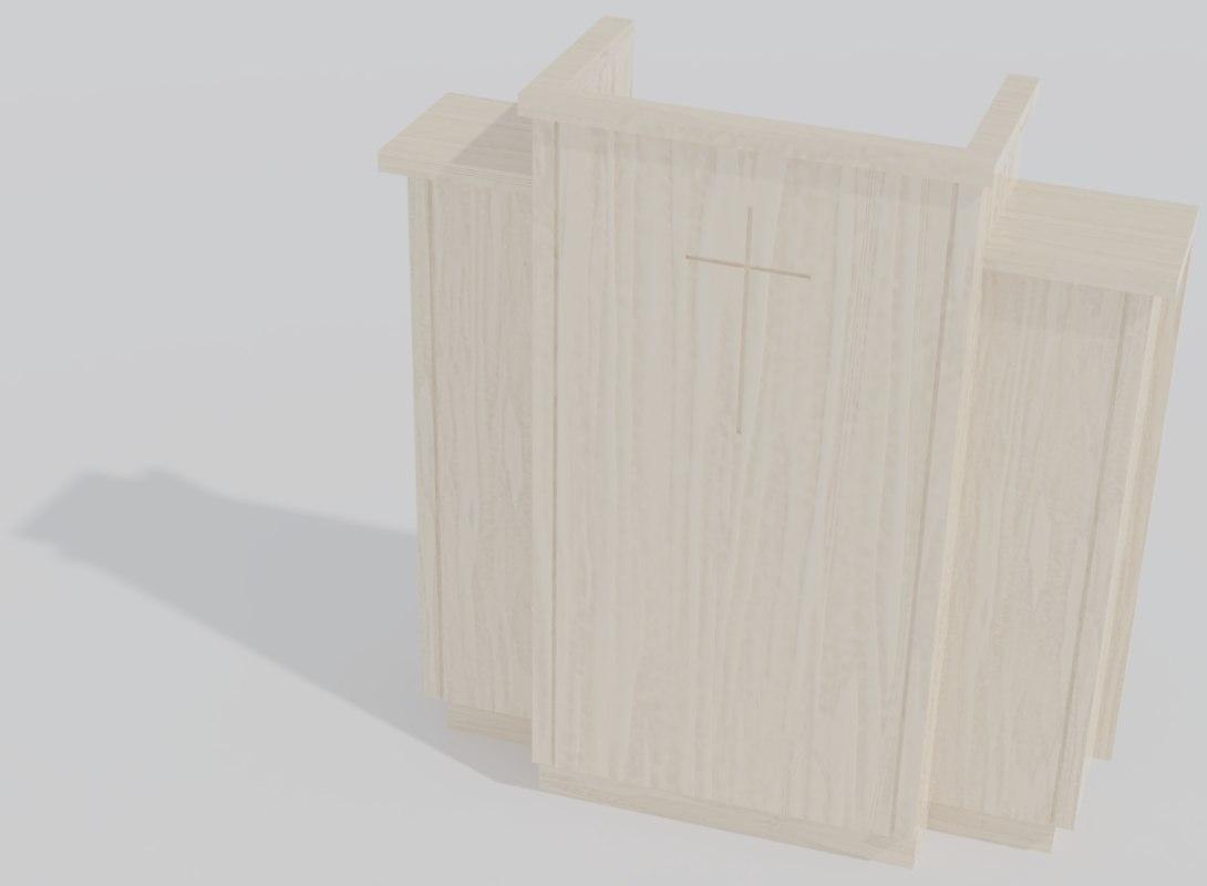 3D model 300w wing pulpit
