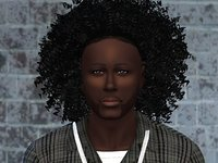 3D curly hair sims 4 model