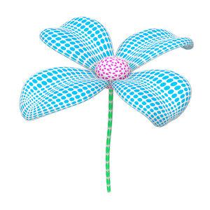 mesh flower 3D