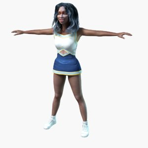 cheerleader girl render model