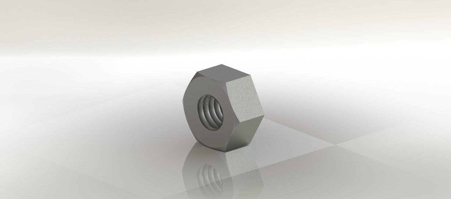 3D nut 6 mm