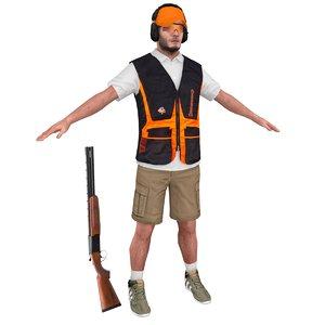 3D skeet shooter model