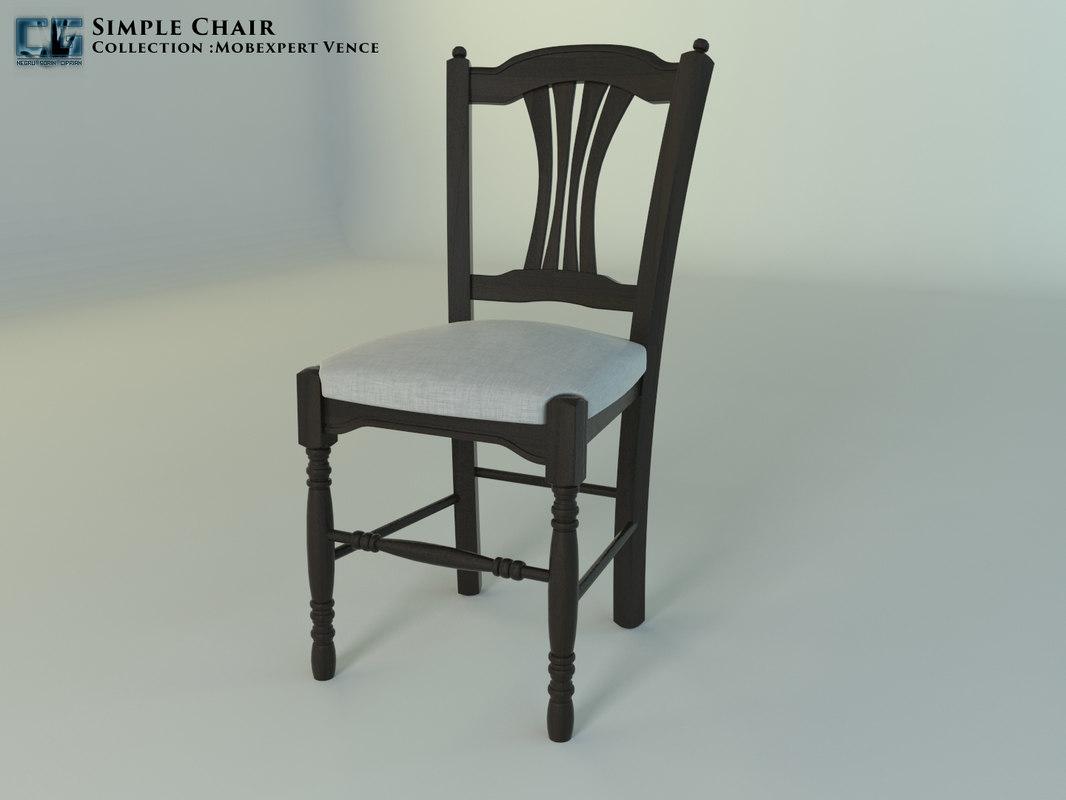 chair mobexpert vence 3D model