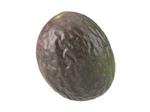 photorealistic scanned passion fruit model