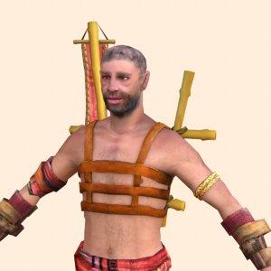 ancient slave 3D model
