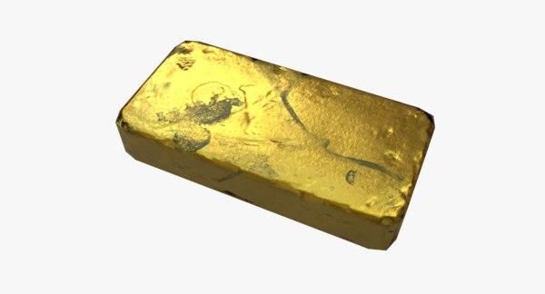 pirate gold bar 3D model