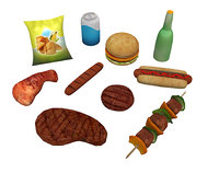 food set dae 3D model