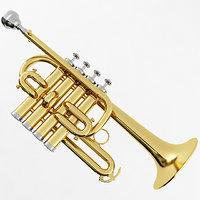piccolo trumpet 3D
